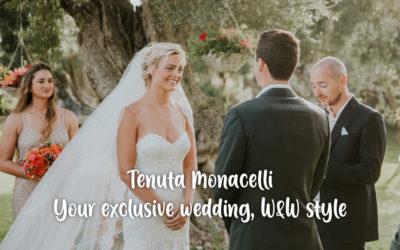 Tenuta Monacelli: your exclusive wedding, Wine & Wedding style