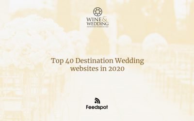 Wine & Wedding in the top 40 wedding websites on Feedspot