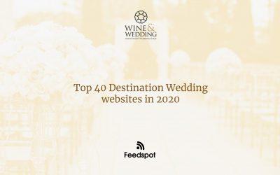 Wine & Wedding in the top 40 wedding websites on Feedspot
